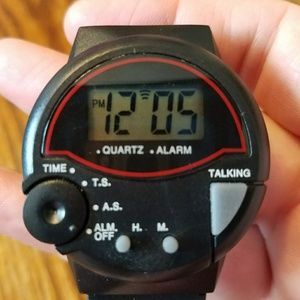 Jewelry - PREOWNED SPEAKING TIME WATCH FOR THE BLIND